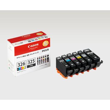 【まとめ買い10個セット品】インクジェットカートリッジ BCI-326+325 6MP 1セット キヤノン【ECJ】