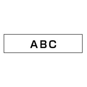 【まとめ買い10個セット品】 ピータッチ用 テープカートリッジ 強粘着ラミネートテープ 8m TZe-S221 白 黒文字 【ECJ】