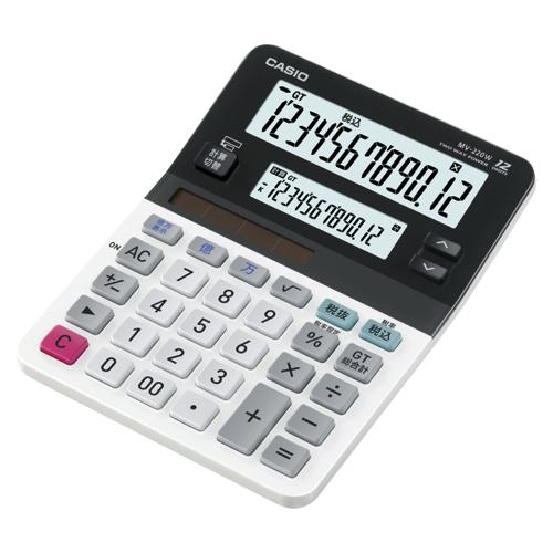 【まとめ買い10個セット品】電卓 MV-220W-N 1台 カシオ【 オフィス機器 電卓 電子辞書 電卓 】【ECJ】