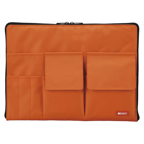【まとめ買い10個セット品】バッグ イン バッグ A4サイズ A-7554-4 橙 1個 リヒトラブ【 ファイル ケース ケース バッグ インナーバッグ 】【ECJ】