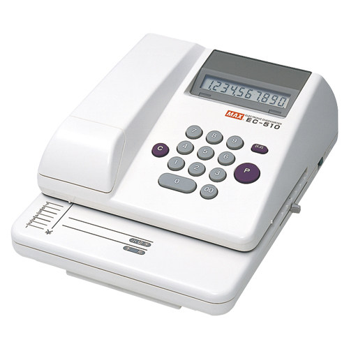電子チェックライタ EC-510 1台 マックス 【メーカー直送/代金引換決済不可】【 オフィス機器 チェックライター 印字用品 チェックライター 】【ECJ】