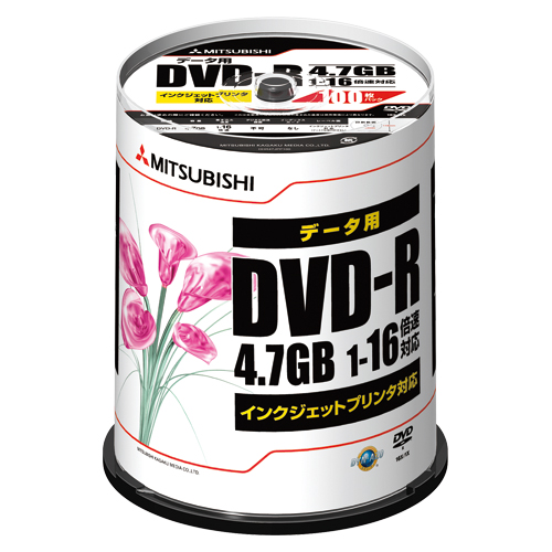 【まとめ買い10個セット品】 PC DATA用 DVD-R パソコンデータ用1回記録タイプ DVD-R 1-16倍速対応 DHR47JPP100 【ECJ】