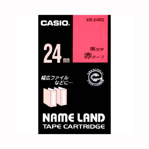 【まとめ買い10個セット品】ネームランド用テープカートリッジ スタンダードテープ 8m XR-24RD 赤 黒文字 1巻8m カシオ【 オフィス機器 ラベルライター ネームランドテープ 】【ECJ】