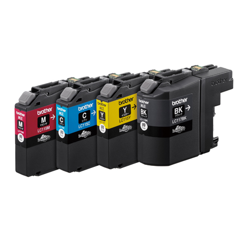 【まとめ買い10個セット品】 インクジェットカートリッジ LC117/115-4PK 4色パック大容量 【ECJ】