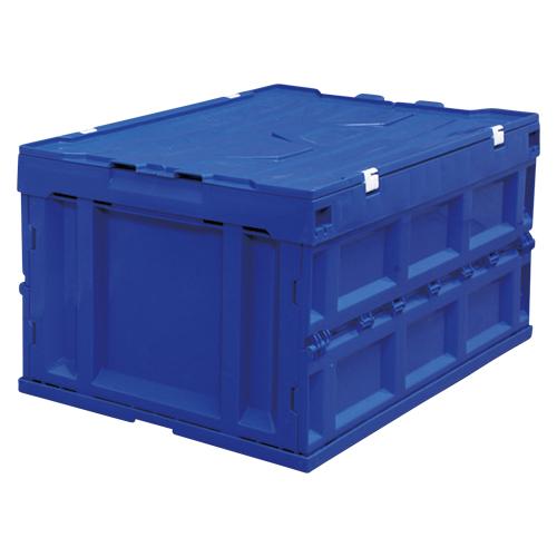 【まとめ買い10個セット品】ハード折りたたみコンテナフタ一体型 ブルー HDOH-75L ブルー 1個 アイリスオーヤマ【ECJ】