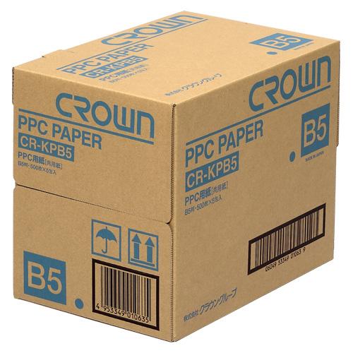 【まとめ買い10個セット品】PPC用紙 CR-KPB5-W 500枚×5冊 クラウン【 PC関連用品 OA用紙 コピー用紙 】【ECJ】