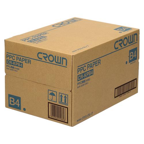 【まとめ買い10個セット品】PPC用紙 CR-KPB4-W 500枚×5冊 クラウン【 PC関連用品 OA用紙 コピー用紙 】【ECJ】