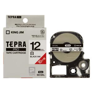 【まとめ買い10個セット品】 「テプラ」PRO SRシリーズ専用テープカートリッジ 白ラベルロングタイプ 16m SS12KL 白 黒文字 【ECJ】