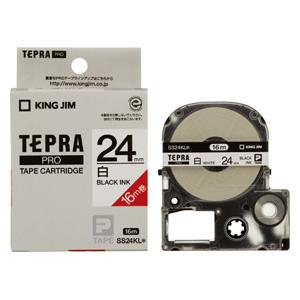 【まとめ買い10個セット品】 「テプラ」PRO SRシリーズ専用テープカートリッジ 白ラベルロングタイプ 16m SS24KL 白 黒文字 【ECJ】