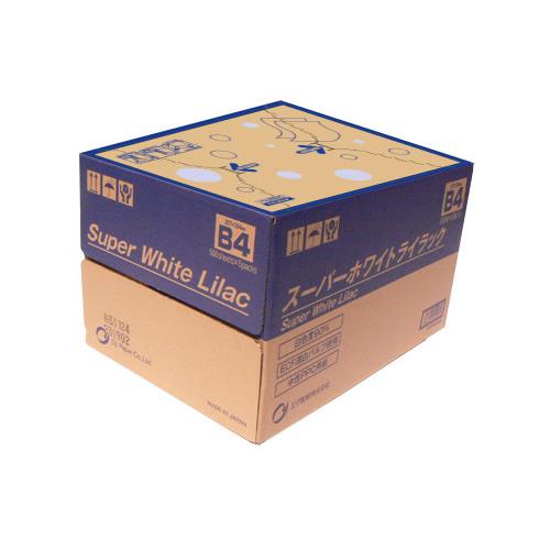 【まとめ買い10個セット品】王子 スーパーホワイトライラック SWLB4 500枚×5冊 王子製紙【 PC関連用品 OA用紙 コピー用紙 】【ECJ】