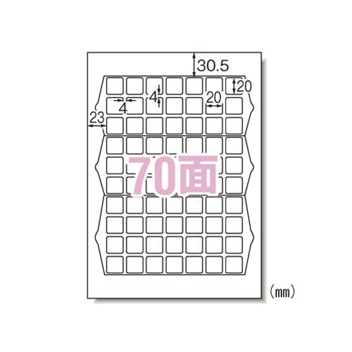 【まとめ買い10個セット品】 ラベルシール(プリンタ兼用) マット紙(A4判) 20枚入り ハイグレードタイプ 75270 【ECJ】