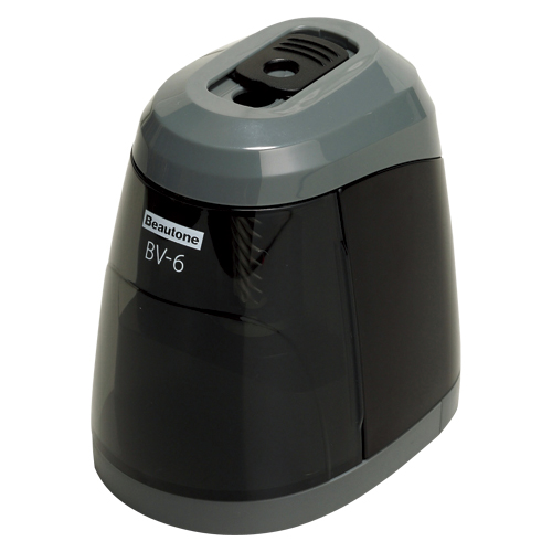 crw-22839 希少 まとめ買い10個セット品 コンパクト電動鉛筆削り器 ブラック ECJ 超安い BV-6