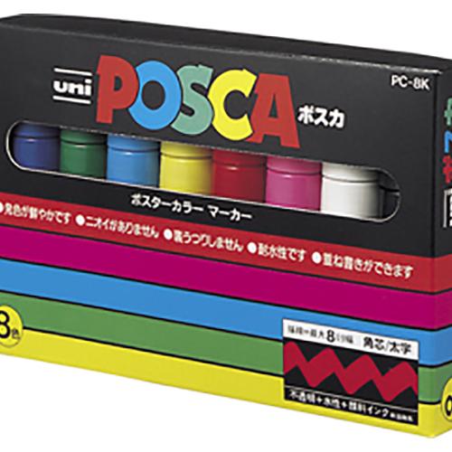 【まとめ買い10個セット品】ユニ ポスカ 太字角芯(8.0mm) PC-8K8C 1セット 三菱鉛筆【 筆記具 マーカーペン サインペン 水性マーカーペン 】【ECJ】