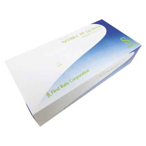 【まとめ買い10個セット品】プレミア・ニトリルPFグローブ FR-851 ブルー 100枚 ファーストレイト【ECJ】