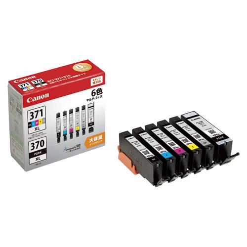 【まとめ買い10個セット品】インクジェットカートリッジ BCI-371XL+370XL/6MP 1セット キヤノン【ECJ】