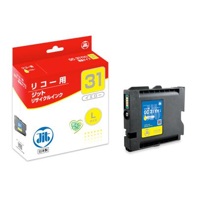 【まとめ買い10個セット品】 インクジェットカートリッジ JIT-R31YH イエロー 【ECJ】