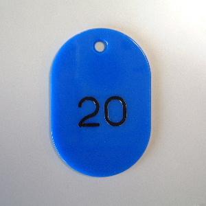 【まとめ買い10個セット品】番号札 小判型・スチロール製 番号入(連番) CR-BG41-BL 青 50枚1セット クラウン【 事務用品 名札 番号札 番号札 】【ECJ】