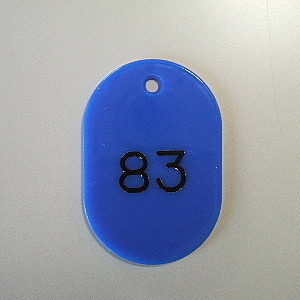 【まとめ買い10個セット品】番号札 小判型・スチロール製 番号入(連番) CR-BG42-BL 青 50枚1セット クラウン【 事務用品 名札 番号札 番号札 】【ECJ】