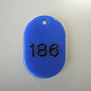 【まとめ買い10個セット品】番号札 小判型・スチロール製 番号入(連番) CR-BG44-BL 青 50枚1セット クラウン【 事務用品 名札 番号札 番号札 】【ECJ】