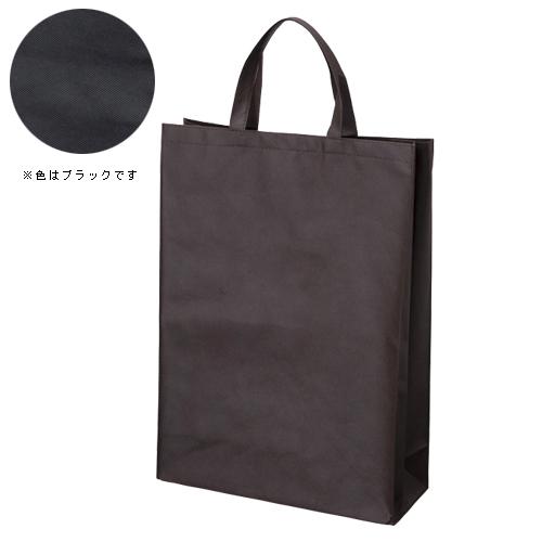 【まとめ買い10個セット品】不織布バッグ 中 マチ付き FBH-45BK ブラック 10枚 サンナップ【ECJ】