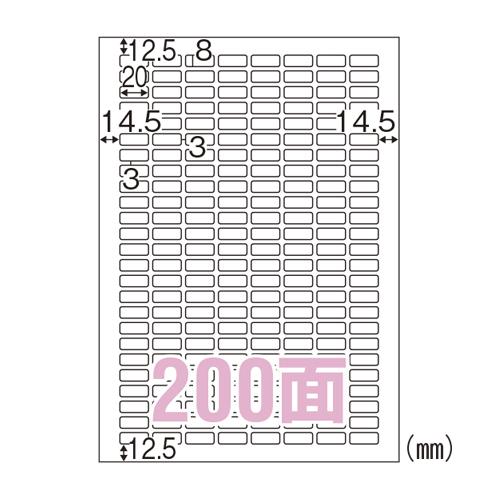 【まとめ買い10個セット品】 ラベルシール A4判 100枚入り エコノミーラベル ELM038 【ECJ】