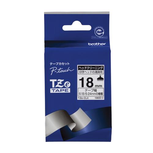 【まとめ買い10個セット品】ピータッチ用 テープカートリッジ ヘッドクリーニングテープ TZe-CL4 1巻 ブラザー【ECJ】