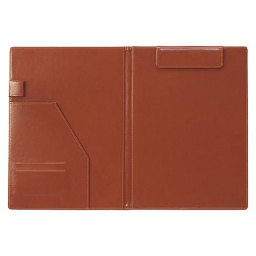 【まとめ買い10個セット品】ベルポスト クリップファイル(二つ折りタイプ) A4判タテ型 BP-5724-40 ブラウン 1枚 セキセイ【ECJ】