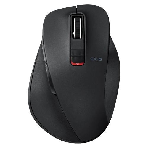 【まとめ買い10個セット品】 5ボタンワイヤレス Bluetooth3.0 BlueLEDマウス 握りの極み M-XGM10BBBK ブラック 【ECJ】