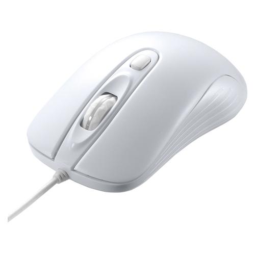 【まとめ買い10個セット品】有線レーザーマウス MA-LS27W ホワイト 1個 サンワサプライ【ECJ】