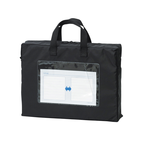 【まとめ買い10個セット品】メールバッグ A4長辺取っ手付(マチ80mm) CR-ME44-B ブラック 1個 クラウン【 ファイル ケース ケース バッグ メールバッグ 】【ECJ】