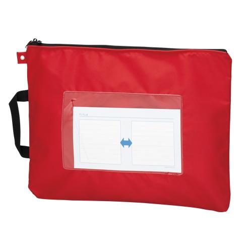 【まとめ買い10個セット品】メールバッグ B4短辺取っ手付 CR-ME05-R レッド 1個 クラウン【 ファイル ケース ケース バッグ メールバッグ 】【ECJ】