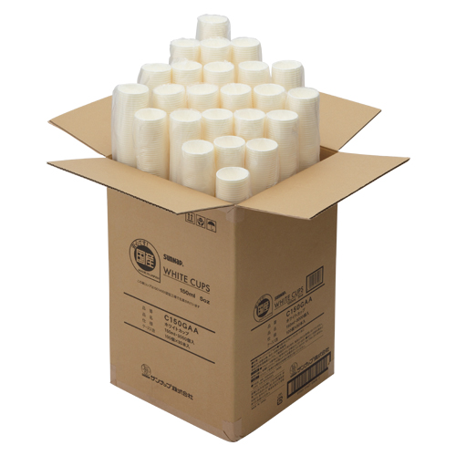 【まとめ買い10個セット品】ホワイトカップ 150ml 5オンス C150GAA 3000個 サンナップ【 生活用品 家電 食器 台所用品 紙コップ 】【ECJ】