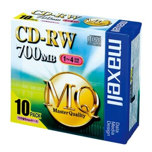 【まとめ買い10個セット品】 PC DATA用 CD-RW パソコンデータ用書き換えタイプ CD-RW 1-4倍速対応 CDRW80MQ.S1P10S 【ECJ】