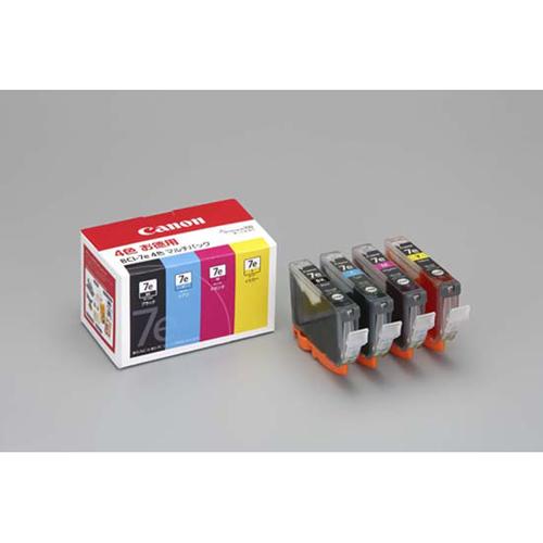 【まとめ買い10個セット品】 インクジェットカートリッジ BCI-7e/4MP 4色マルチパック 【ECJ】
