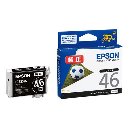 【まとめ買い10個セット品】インクジェットカートリッジ ICBK46 1個 エプソン【 PC関連用品 トナー インクカートリッジ インクジェットカートリッジ 】【ECJ】