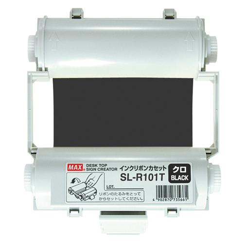 【まとめ買い10個セット品】ビーポップ消耗品 SL-R101T 黒 1巻 マックス【 オフィス機器 ラベルライター ビーポップシート 】【ECJ】