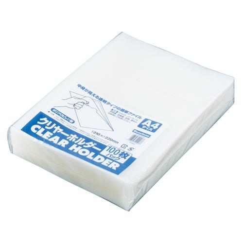 【まとめ買い10個セット品】 クリヤーホルダー A4判 CH-A4-W100 クリヤー 【ECJ】