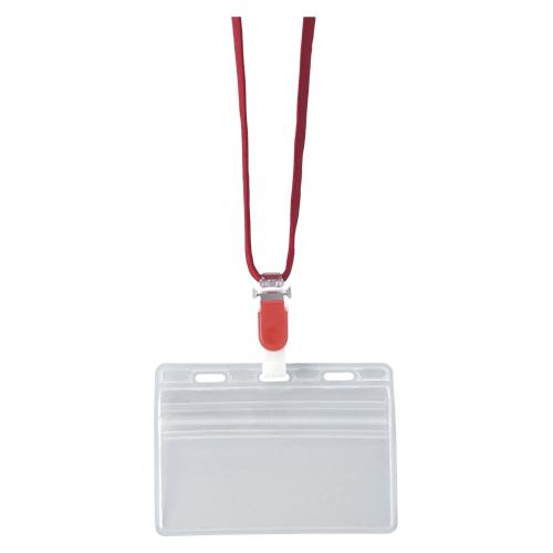 【まとめ買い10個セット品】吊り下げ名札(脱着式) 10枚入 CR-NF-477-R 赤 10枚 クラウン【 事務用品 名札 番号札 名札 】【ECJ】