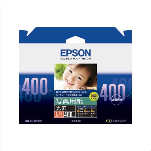 【まとめ買い10個セット品】 エプソン純正プリンタ用紙 写真用紙(光沢) KL400PSKR 【ECJ】