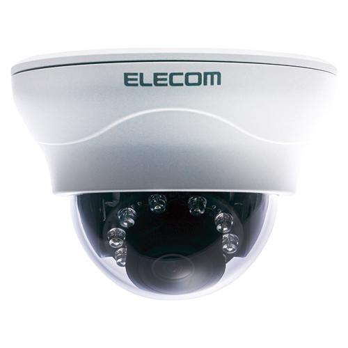 エレコム ネットワークカメラ ヴァンダルドーム型 PoE対応 NCB-DP200BUWH 【ECJ】
