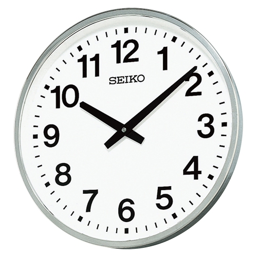 セイコー 屋外・防雨型掛時計 KH411S シルバー 【ECJ】