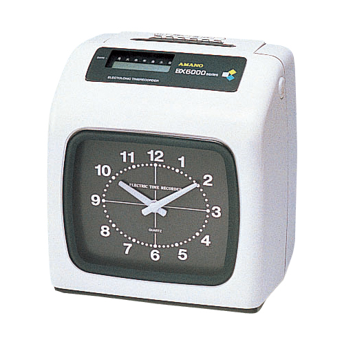 アマノ 電子タイムレコーダー BX-6000 BX-6000 シロ 【ECJ】