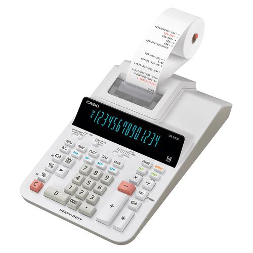 カシオ プリンター電卓 14桁 加算器方式 DR-240R-WE 【ECJ】