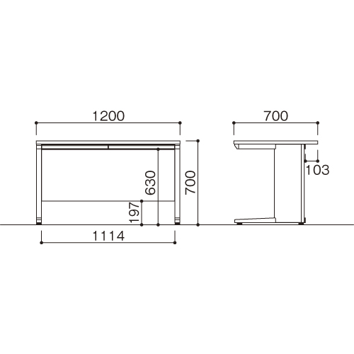 平机 W1200 LDC-H127(NA) ナチュラル/ホワイト 【ECJ】