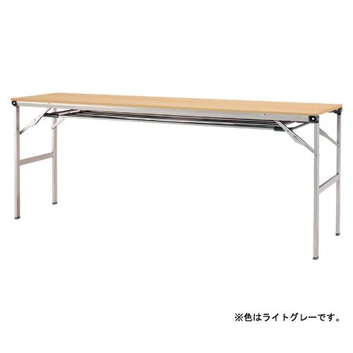 折りたたみテーブル 棚付き LOT-1845ET-GY ライトグレー 【ECJ】