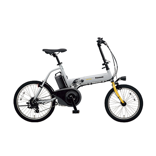 パナソニック 電動アシスト自転車 オフタイム BE-ELW073N グレー×イエロー 【ECJ】
