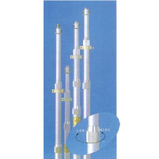 旗(付属品) アルミ伸縮ボール・3段伸縮ネジ式 直送品 別発送品