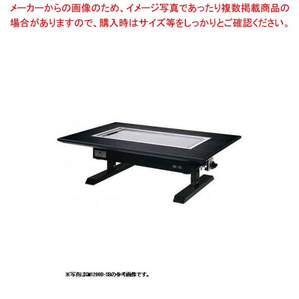 【業務用】お好み焼きテーブル 12mm鉄板 6人掛 スチール脚和卓 1750×800×330 【 メーカー直送/代引不可 】