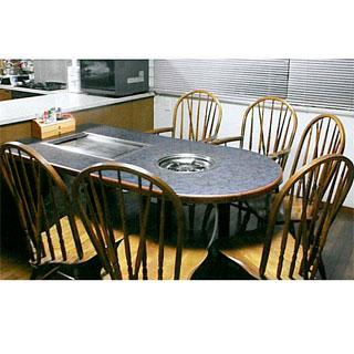 【業務用】業務用ガス式お好み焼き・鍋物テーブル KD-2400GM 【 メーカー直送/後払い決済不可 】