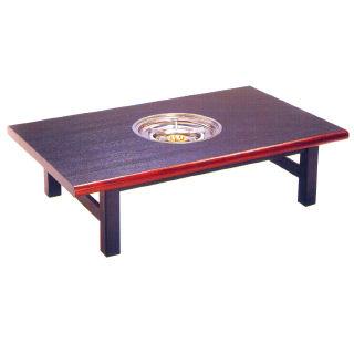 【業務用】業務用ガス式鍋物テーブル テーブル型 木巻 1口コンロタイプ 【 メーカー直送/後払い決済不可 】